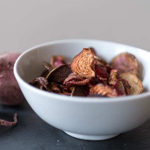 Chioggia Beet and Watermelon Radish Chips