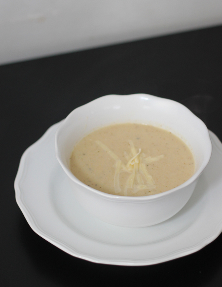 Roasted Cauliflower, Celeriac and White Cheddar Soup