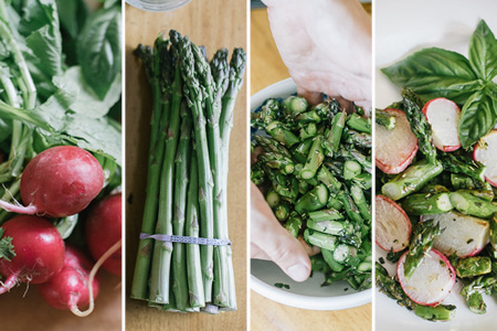 Roasted Radishes and Asparagus