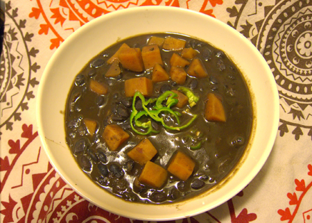 Sweet & Spicy Black Bean Soup